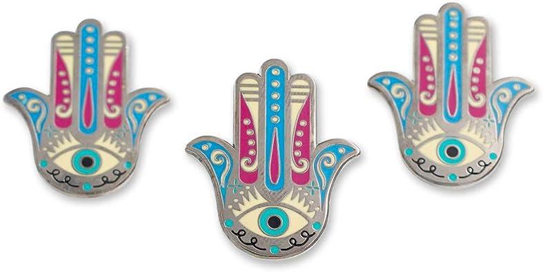 Handcrafted Hamsa Hand Lapel Pin