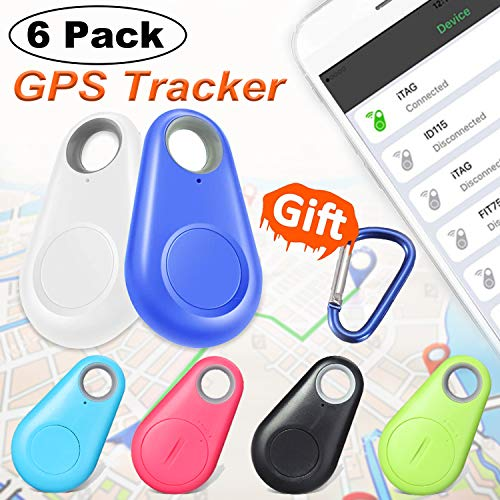 6 Pack Smart Key Finder Locator GPS Tracker - Kidaily Pet Tracker Alarm for Key Wallet Car Kids Bag Dog Cat Child Bag Phone Selfie Shutter Wireless Seeker Anti-Lost Tag Outdoor Travel Camping Gift by Kidaily