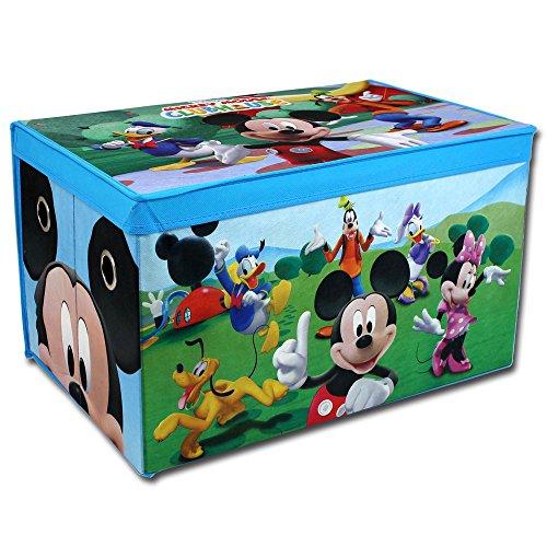 Spielzeugbox - Spielzeugkiste - Aufbewahrungskiste - Stoffbox mit großen Stauraum (Mickey Mouse)