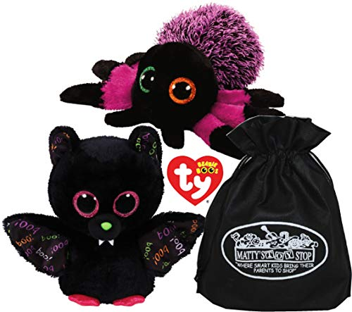 Ty Beanie Boos Halloween Dart & Creeper Gift Set Bundle with Bonus Matty's Toy Stop Storage Bag - 2 -