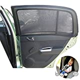 Universal Car Sun Shades Cover for Rear Side Window Provides Maximum UV Protection for Baby, Children, Kids and Dog. Best Quality Mesh Material- 1 Set (2 pieces)