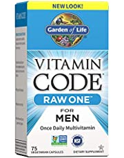 Garden of Life Vitamin Code Raw One for Men, Once Daily Multivitamin for Men, One a Day Mens Vitamins for Energy, Stress Response, Healthy Heart, Prostate, 75 Vegetarian Capsules *Packaging May Vary*