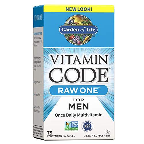Garden of Life Multivitamin for Men, Vitamin Code Raw One for Men – 75 Capsules, Once Daily Mens Vitamins plus Fruit…
