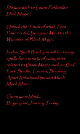 The Black Magic Spell Book