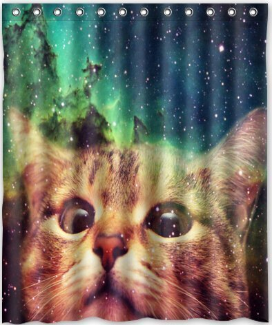 star-galaxy-outer-space-cool-cat-waterproof-fabric-polyester-bathroom-shower-curtain-60w-x-72h