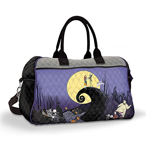 Disney The Nightmare Before Christmas Quilted Tote Bag With Spiral Hill Scene. Exclusively From The Bradford Exchange