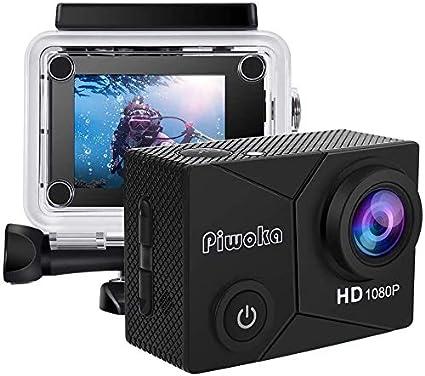 Piwoka Action Cam Full Hd 1080p 12mp Underwater Camera Camera Photo