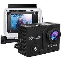 """Piwoka Cámara Deportiva HD1080P Impermeable 30M acción cámara submarina Pantalla 2"""" LCD Gran Angular con Multi…"""