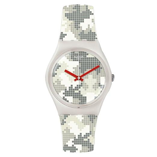 Swatch Mujer magies D hiver gw180 blanco goma Swiss Quartz reloj