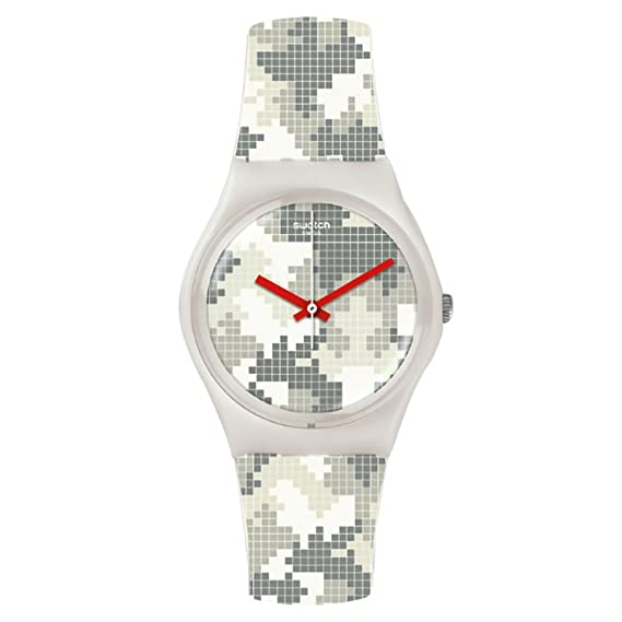 Amazon.com: Swatch Womens Magies DHiver GW180 White Rubber Swiss Quartz Fashion Watch: Swatch: Watches