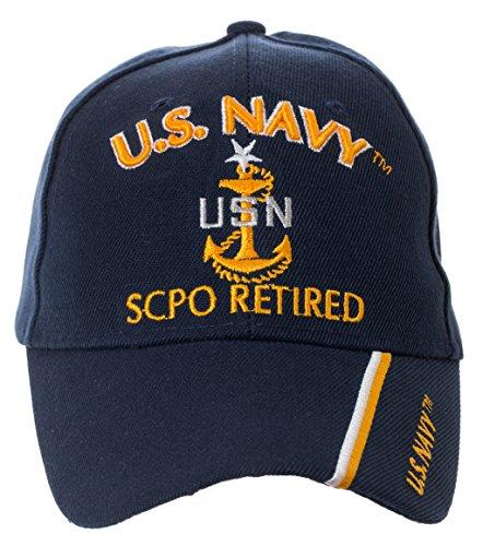 Artisan Owl Officially Licensed US Navy Retired Baseball Cap - Multiple Ranks! (Senior Chief Petty Officer)