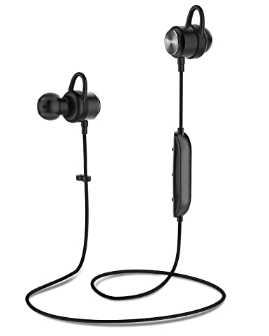 Bluetooth Headphones, Up to 9 Hrs Playing Time HolyHigh IPX7 Waterproof Running Headphones in-Ear Earbuds for Gym Cycling Workout iPhone,iPad,Samsung, Siri with Built-in Noise Cancelling Mic Black