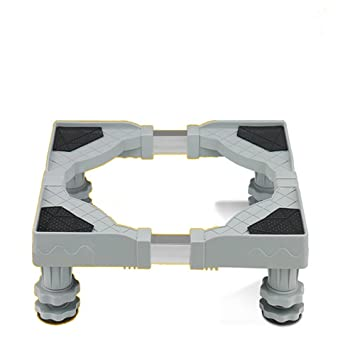 LongYu Muebles telescópicos Base Móvil Multifuncional Dolly Roller Ajustable con 4 pies giratorios Ajustables de Goma Ruedas giratorias para Lavadora y ...