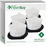 4 - FilterBuy Shark XF769 Dust Cup Replacement Filters, Part # XF769. Designed by FilterBuy to be Compatible with Shark SV769 Cordless Hand Vacuum Cleaners.