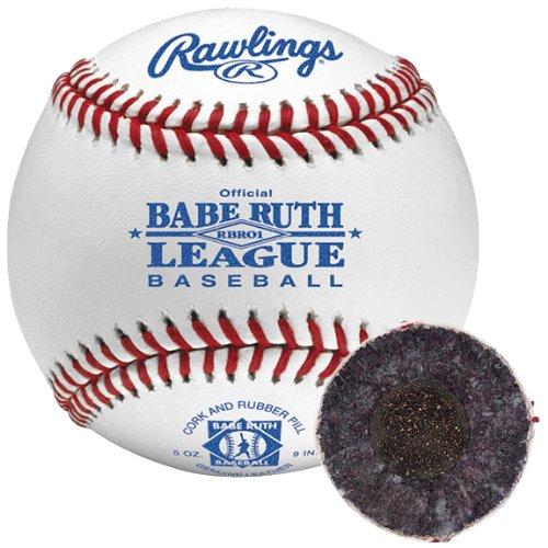 Grade Babe Ruth Raised Seam (Rawlings Babe Ruth League Leather Baseballs 12 Ball Pack)