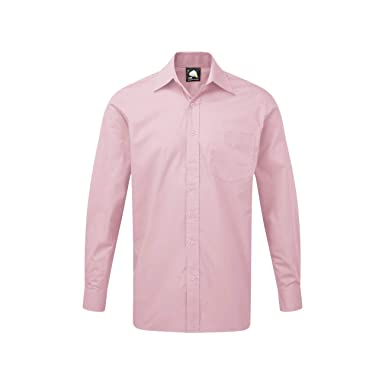 98a44e51 Platinum Mens Plain Cotton Premium Long Sleeve Shirts: Amazon.co.uk ...