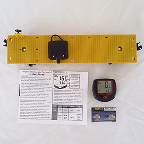 Yellow Flatcar O Gauge Model Train Speedometer Odometer - Lionel Outer Passing Loop