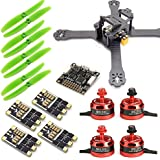SpeedyFPV 210mm FPV Racing Drone Kit with F3 Flight Controller, 2205 Motors, 30A ESC 2-4S, 5x4 Propellers