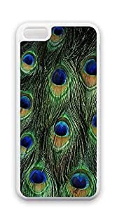 Customized Dual-Protective iphone 5c case for girls protective - Peacock Feather Design Fabric