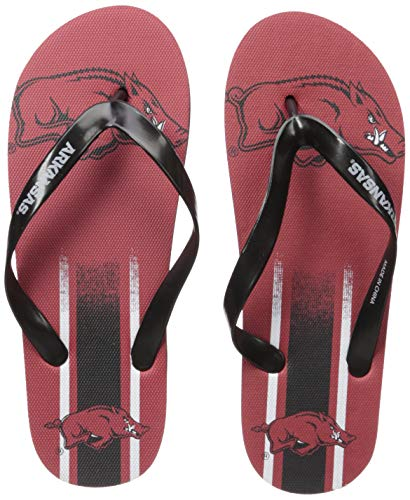 (NCAA Arkansas Razorbacks Unisex Unisex Gradient Big Logo FLIP FLOPARKANSAS Unisex Gradient Big Logo FLIP Flop Small, Team Color, S)