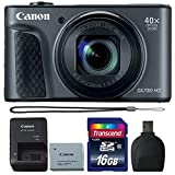 Cheap Canon Powershot SX730 HS Digital Camera (Black) with 16GB Accessory Kit