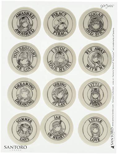 DOCrafts Gorjuss Santoro - Juego de mini sellos (12 unidades)