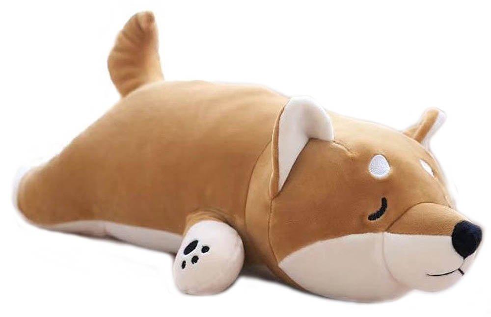 Shiba Inu Dog Printed Throw Pillow Lifelike Animal Pillows Plush Toy for Valentine's Gift, Bed,Sofa Chair by Methew O