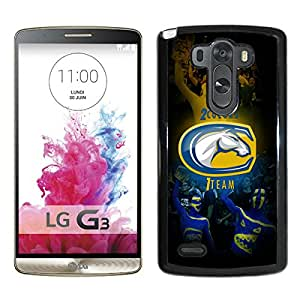 NCAA UC Davis Aggies 8 Black Popular Custom Design LG G3 Phone Case