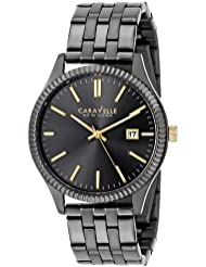 Caravelle New York Mens 45B120 Stainless Steel Watch with Analog Display