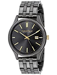 Bulova Caravelle New York Men's 45B120 Analog Display Japanese Quartz Black Watch