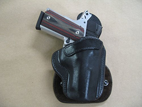 Para Ordnance Paddle - Para Ordnance Warthog 1911 Compact OWB AZULA All Leather Molded Paddle Holster CCW BLACK RH