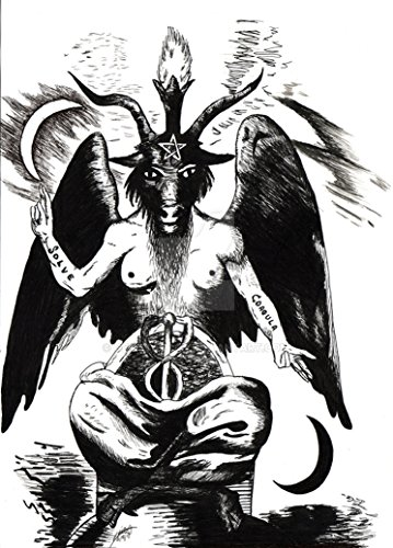 Baphomet Fabric Cloth Rolled Wall Poster Print -- Size: (32