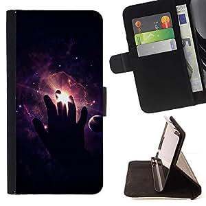 Momo Phone Case / Flip Funda de Cuero Case Cover - Espacio Mano;;;;;;;; - HTC One A9