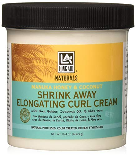 Long Aid Naturals Shrink Away Elongating Curl Cream, 16.39 Ounce (Best Curl Elongating Cream)