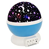Night Light for Kids, ZHOPPY Star and Moon Starlight Projector Bedside Lamp for Baby Room and Kids Bedroom - Star Light (Blue)