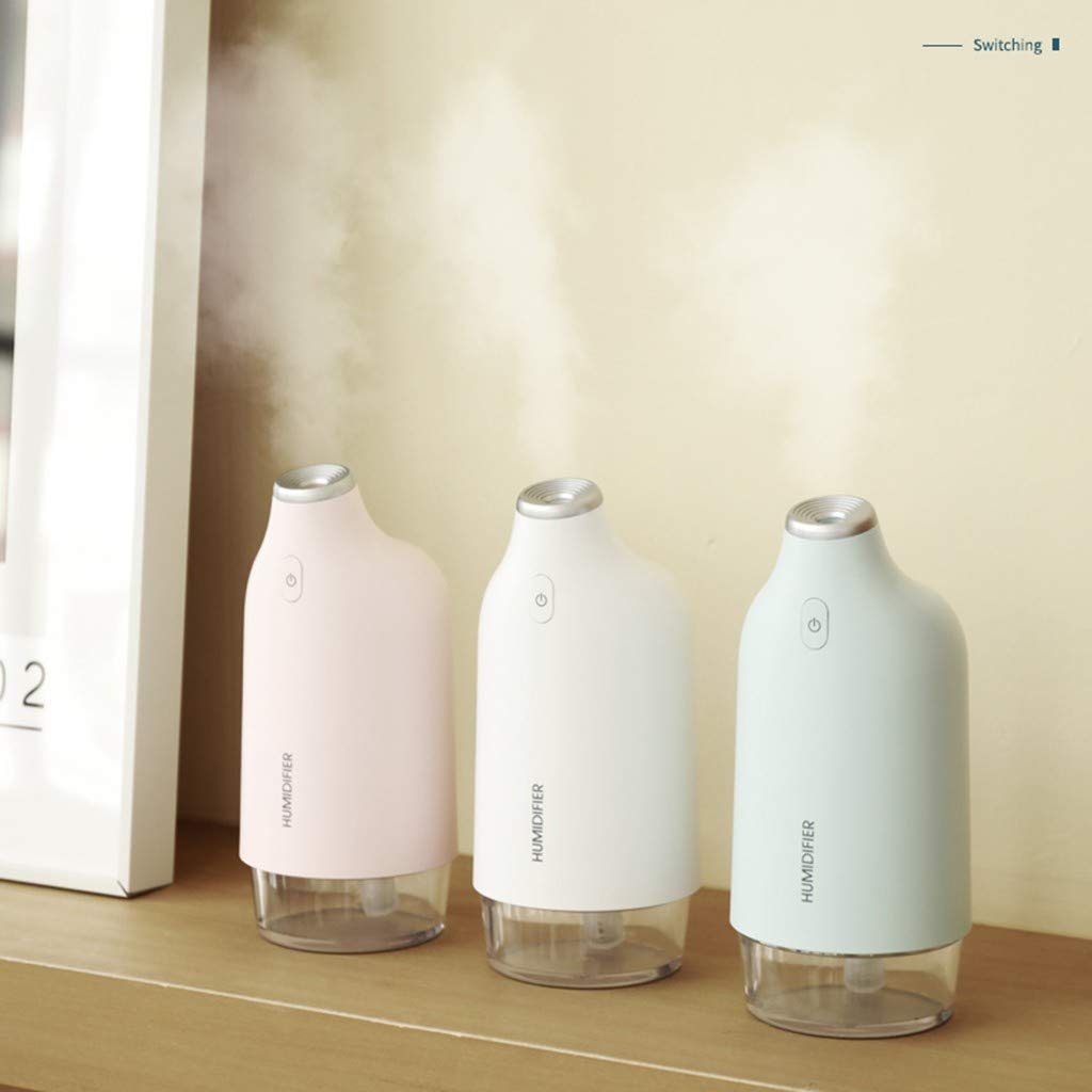 White Relieve Stress,7.5x16.2cm 270ml Mini Home USB Humidifier Purifier Atomizer Air Purifier Diffuser Purify Humidify Decoration Aroma Therapy ToDIDAF Portable Humidifier