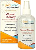 SkinSmart ANTIMICROBIAL Wound Therapy, 8 oz. Clear Hypochlorous Spray. For WOUND CARE, ACNE, SKIN INFECTIONS, FOOT WASH, WOUND WASH, RASHES, HIVES, BURNS, FUNGAL INFECTIONS. NON-STICKY, NO MESS!