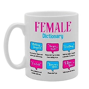 Hembra diccionario usted debe saber taza regalos para las mujeres de la novedad taza de café regalos de cumpleaños para mamá taza de cerámica taza 11oz: ...