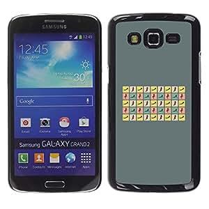 Smartphone Rígido Protección única Imagen Carcasa Funda Tapa Skin Case Para Samsung Galaxy Grand 2 SM-G7102 SM-G7105 Woman Sexy Poses Curvy Body Hour Glass / STRONG