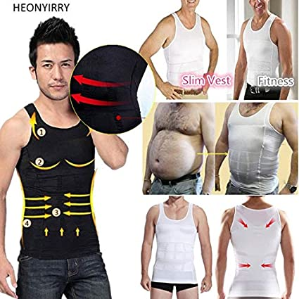 53ba874a49bca SRS Men Shapers Sleeveless Firm Tummy Belly Buster Vest Control Slimming  Belt  Amazon.in  Health   Personal Care