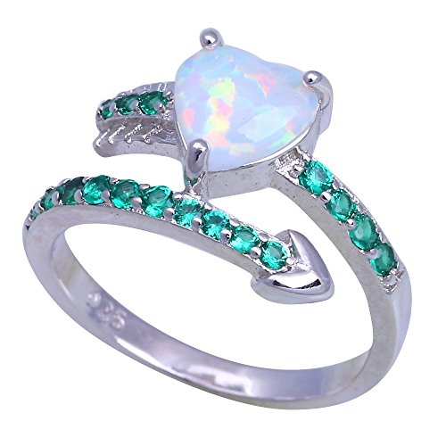 Green Crystal Green Fire Opal Silver Fashion Jewelry Ring For Women OR901 (10)