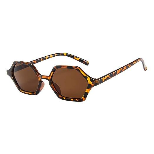 51c8f6712a Amazon.com  Women Men Vintage Retro Glasses Unisex TANGSen Irregular Frame  Sunglasses Beach Fashion Casual Sun Eyewear  Clothing