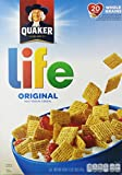 You don't have to be a kid to love the sweet and crunchy goodness of Quaker Life Cereal, and you don't have to be a grown-up to benefit from the whole grain Quaker Oats baked inside each square. Wholesome with just the right touch of sweetnes...