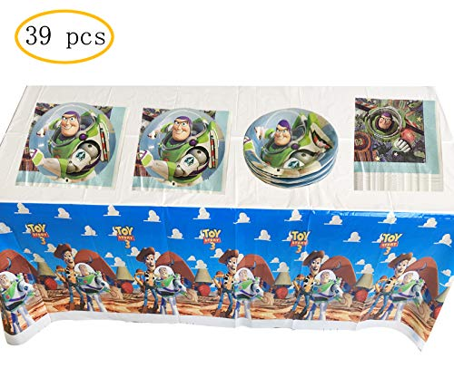 Party Nice Toy Story Party Supplies, 18 plates, 20 napkins and 1 -