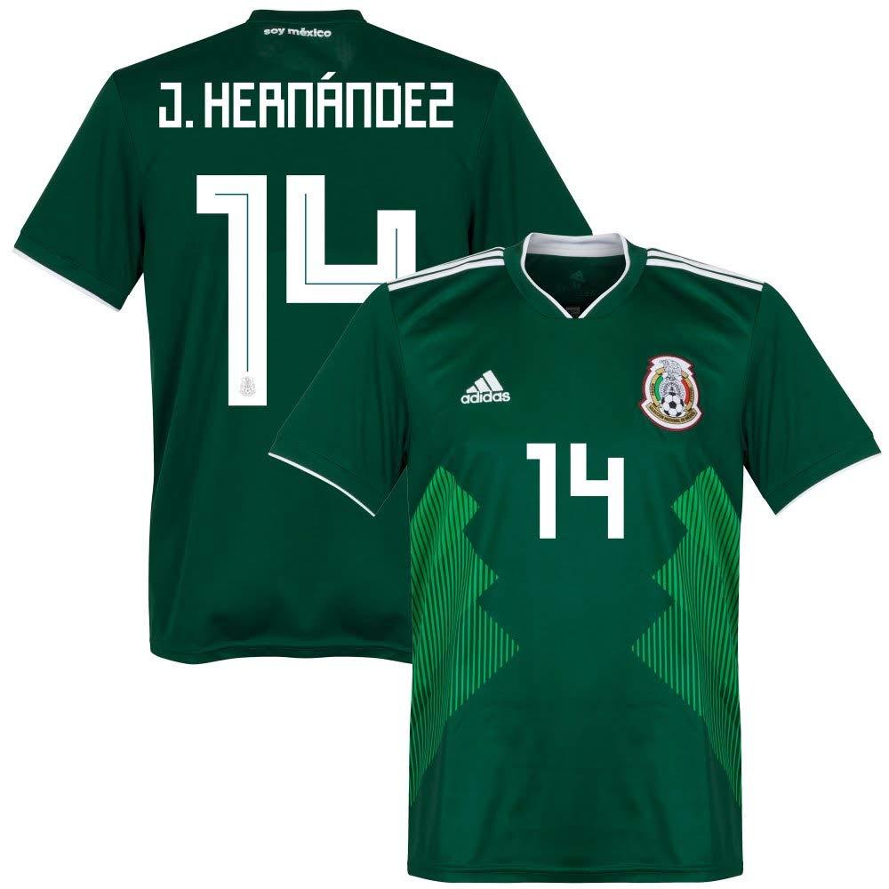 Mexiko Home Trikot 2018 2019 + J. Hernández 14 - L