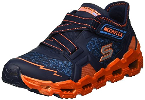 Skechers Kids Boys' MEGA-Flex LITE 2.0-Blast FAS Sneaker, Navy/Orange, 3.5 Medium US Big ()