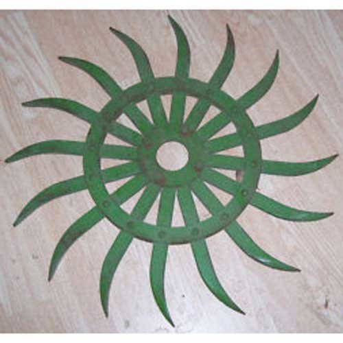 All States Ag Parts Rotary Hoe Wheel Green Compatible with John Deere 428 75 420 415 430 AN142664