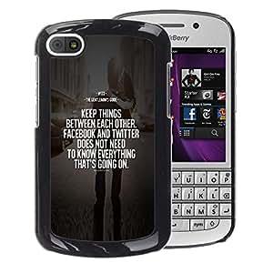A-type Arte & diseño plástico duro Fundas Cover Cubre Hard Case Cover para BlackBerry Q10 (Keep Love Inspiring Message Motivating)