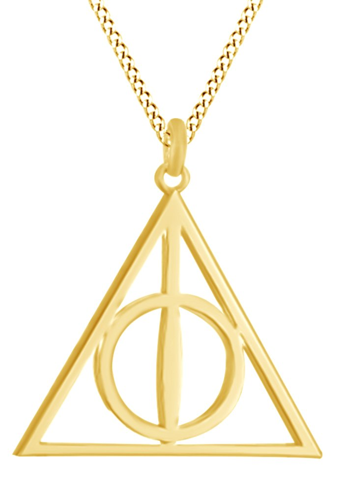Harry Potter Deathly Hallow Symbol Pendant In 14K Yellow Gold Over Sterling Silver