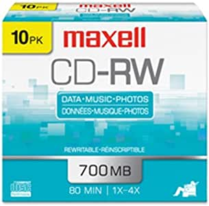 NEW - CD-RW, Branded Surface, 650MB/74min, 4x - 630010